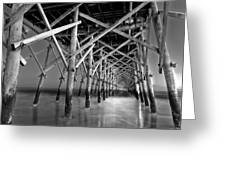 Night At The Pier Greeting Card by Drew Castelhano