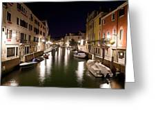 Night Canal Greeting Card