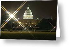 Night Capitol Greeting Card