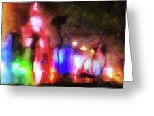 Night City Lights Greeting Card