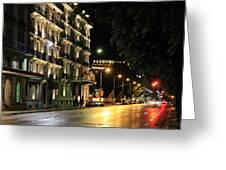 Night City Greeting Card