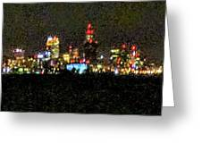 Night Cleveland Greeting Card