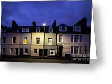 Night Darkens The Street Greeting Card