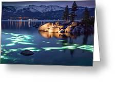 Night Dive - Lake Tahoe Greeting Card
