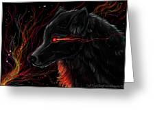 Night Eyes Greeting Card