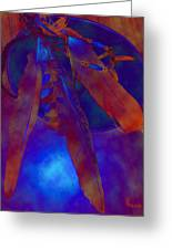 Night Feathers   -019 Greeting Card