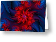 Night Fire Greeting Card