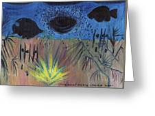 Night Fish In Las Vegas Greeting Card by Suzanne  Marie Leclair
