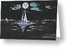 Night Fishing Greeting Card