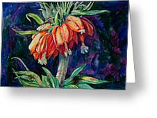 Night Flower Greeting Card