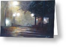 Night Fog Greeting Card