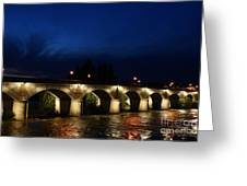 Night In Amboise Greeting Card