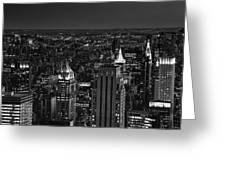 Night In Manhattan Greeting Card