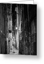 Night In Palermo Greeting Card