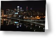 Night In Philly Greeting Card by Jennifer Ancker