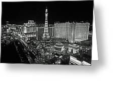 night in Vegas Greeting Card