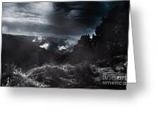 Night Landscape. Australian Mountain View Greeting Card