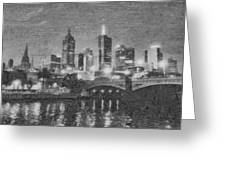Night Landscape In Melbourne Greeting Card
