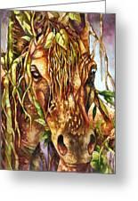 Night Life The Stallion Greeting Card