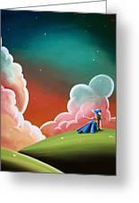 Night Lights Greeting Card by Cindy Thornton