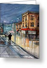Night Lights Greeting Card by Ryan Radke
