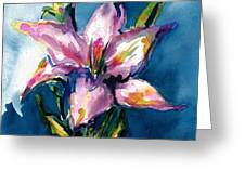 Night Lily Greeting Card