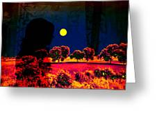 Night Loneliness Greeting Card