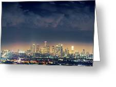 Night Los Angeles Skyline Greeting Card