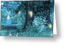 Night Magic Fairy Flight Greeting Card