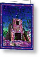 Night Magic San Miguel Mission Greeting Card