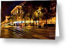 Night Moods San Jose Ca  Greeting Card