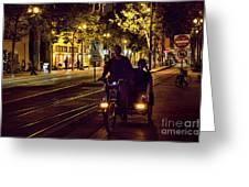 Night Moods Streets Of San Jose   Greeting Card
