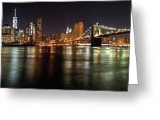 Night Nyc Panorama Greeting Card