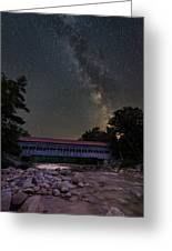 Night On The Swift River Greeting Card