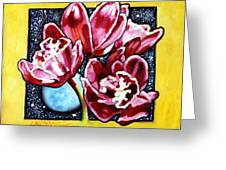 Night Orchids Greeting Card
