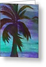 Night Palm Greeting Card