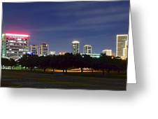 Night Pano Of Fort Worth Greeting Card
