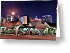 Night Panorama Of Okc Greeting Card