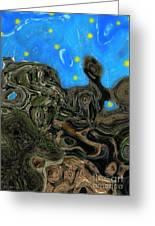 Night Petrified Greeting Card