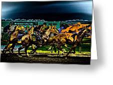 Night Racing Greeting Card