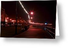 Night Road Greeting Card