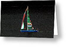 Night Sail 2 Greeting Card