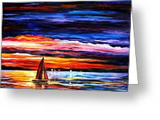 Night Sea  Greeting Card