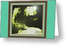 Night Search No. 14 With Decorative Ornate Printed Frame. Greeting Card