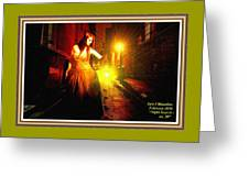 Night Search No. 20 L A With Decorative Ornate Printed Frame. Greeting Card