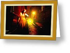 Night Search No. 20 L B With Decorative Ornate Printed Frame. Greeting Card