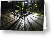 Night Shadows Greeting Card