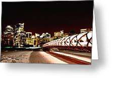 Night Shots Calgary Alberta Canada Greeting Card