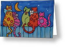 Night Singers   Greeting Card