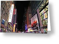 Night Time At Times Square Greeting Card
